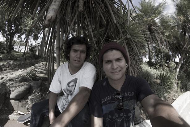 Chris y Roberto parque Nca